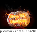Burning pumpkin 40374281
