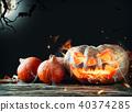 Burning pumpkin 40374285