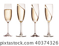 Glasses of champagne 40374326