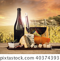 Various kind of cheese with wine 40374393