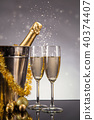 Celebration theme with champagne still life 40374407
