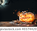 Burning pumpkin 40374420