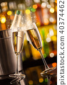 Glasses of champagne with blur background 40374462