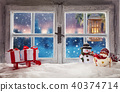 Atmospheric Christmas window sill decoration 40374714