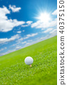 Golf ball on the green lawn 40375150
