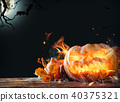 Burning pumpkin 40375321