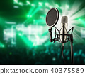 Singing microphone on music concert 40375589
