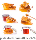 Fresh honey collection on white background 40375926
