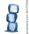 Melting ice cubes isolated on white background 40375956