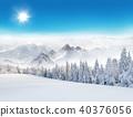 Winter snowy landscape 40376056
