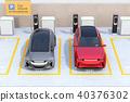 分享私有停车场的电车充电的汽车的图象 40376302