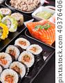 sushi, roll, black 40376406