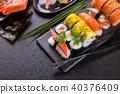 sushi, meal, black 40376409