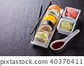 sushi, black, delicious 40376411
