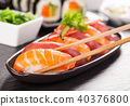Delicious sushi rolls 40376800