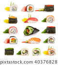 Sushi pieces collection 40376828
