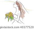 bride, wedding, vector 40377520