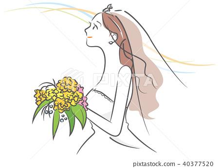 新娘 婚禮 矢量 40377520