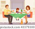 Family dinner vector 40379300