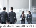 4個商人商業場面辦公場景 40379933