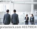 4個商人商業場面辦公場景 40379934