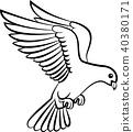 Dove birds logo for peace concept and wedding desi 40380171