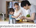 가족 부모와 자식 주방 40381054