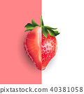 Strawberry. Vector illustration 40381058