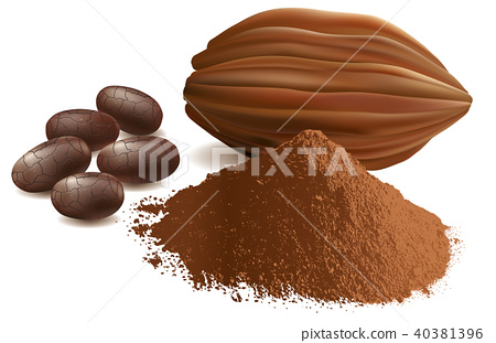 cacao beans, with powder 40381396