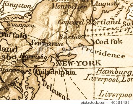 고지도 미국 뉴욕 40381485