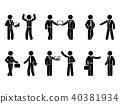 business, icon, stick 40381934