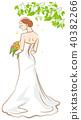 bride, back view, vector 40382266