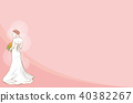 bride, back view, vector 40382267