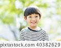 男孩和新鮮的綠色 40382629