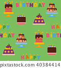 Wedding or Birthday pie cakes flat sweets dessert bakery ceremony delicious seamless pattern 40384414