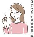 Female split hair 40384682