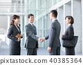businessman, businesswoman, business district 40385364