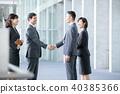 4 businessmen business scenes office scene 40385366