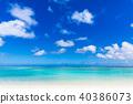 夏天圖像海,海灘,藍天 40386073