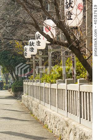 靖國神社沙丁魚和燈籠 40387619