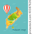 Taiwan map with Keelung and Dragon Mountain 40387626