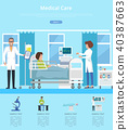 Medical Care Hospital Review Vector Illustration 40387663