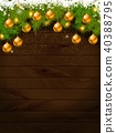 christmas decoration background 40388795