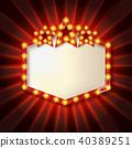 banner, design, neon 40389251