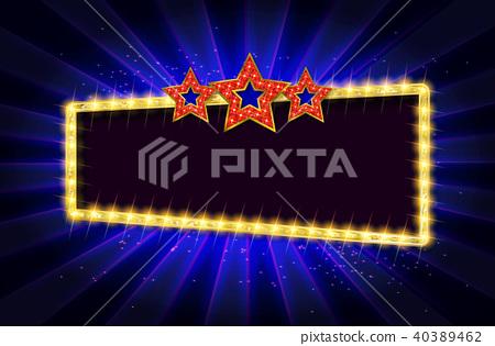 Cinema gold banner 40389462