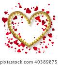 heart, golden, valentine 40389875