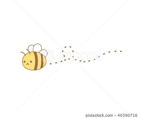 可愛的蜜蜂的插圖 40390716