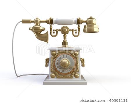 gold telephone 40391131