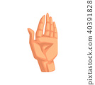 Palm, male body part vector Illustration on a white background 40391828