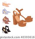shoe, vector, set 40393616